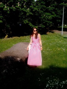 Margarita dress striped